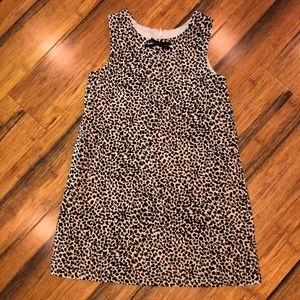 Velvet cheetah print shift dress